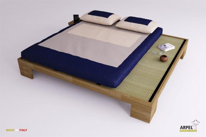 Betten-Set ZEN inkl. Lattenrost, Tatami und Futon Kokos Latex