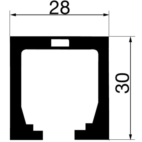Aluminium-Führungsschiene, 28x30 mm