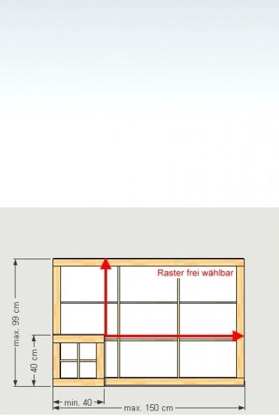 Shoji-Element 'S', Breite 40-150 x Höhe (Länge) 40-99 cm