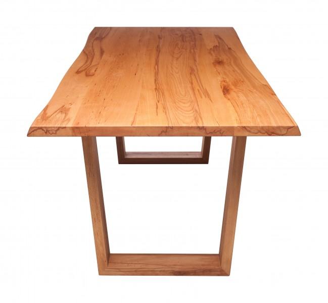 Tisch BUKU m. Holzgestell, Kernbuche massiv