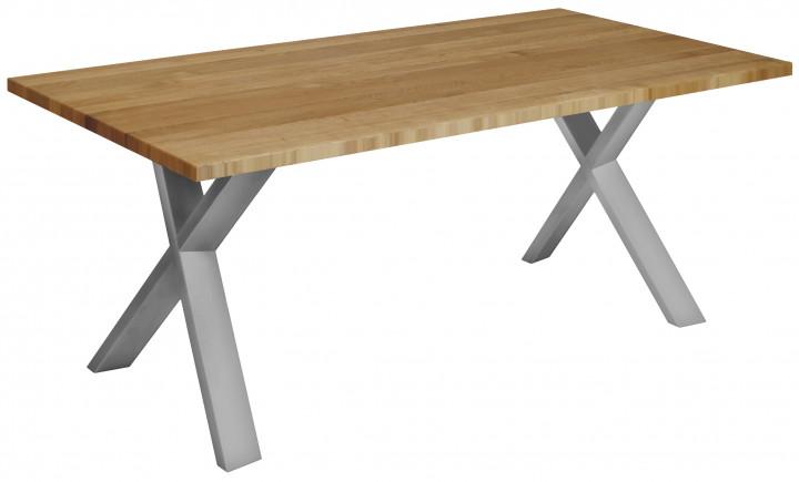 Tisch OKU-X m. Holzgestell, Eiche massiv 4 cm