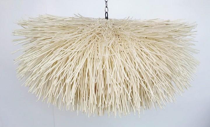 Rattan-Hängeleuchte COMET, 100-130 cm