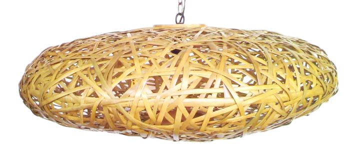 Bambus-Hängeleuchte UFO, 100 cm