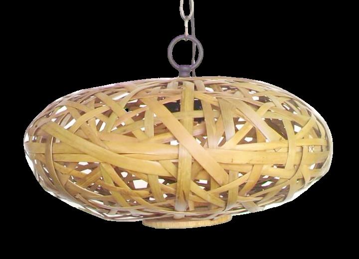 Bambus-Hängeleuchte UFO, 50 cm