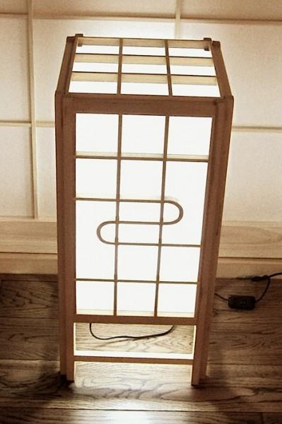 Bodenleuchte - Holzrahmen mit Shoji-Vlies bespannt, Höhe 70 cm