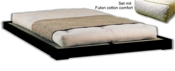 Betten-Set TATAMI2 180x200 cm, inkl. Rolllattenrost, 2 Tatami und Futon Cotton comfort