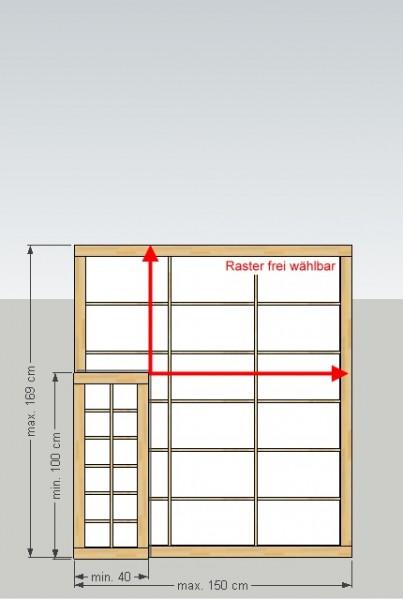 Shoji-Element 'M', Breite 40-150 x Höhe (Länge) 100-169 cm