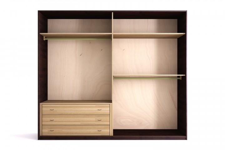 kleiderschrank shoji 200x220 cm mit 2 schiebet ren buche massiv. Black Bedroom Furniture Sets. Home Design Ideas