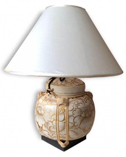 Bambus-Reiskorb-Lampe 46x46x56 cm