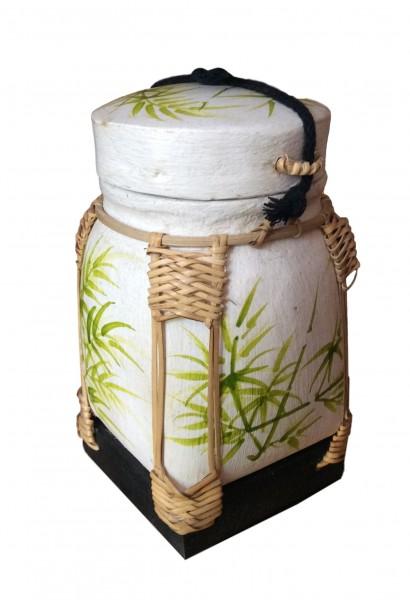 Bambus-Reiskorb 14x14x22 cm